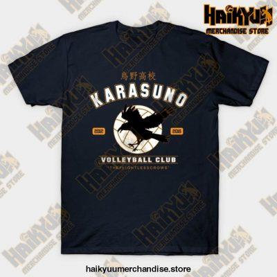 Karasuno Haikyuu Anime T-Shirt Navy Blue / S