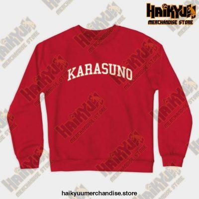 Karasuno Haikyuu Sweatshirt Red / S