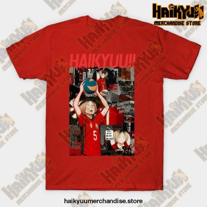 Kenma Kozume Haikyuu T-Shirt Red / S