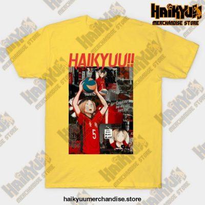 Kenma Kozume Haikyuu T-Shirt Yellow / S