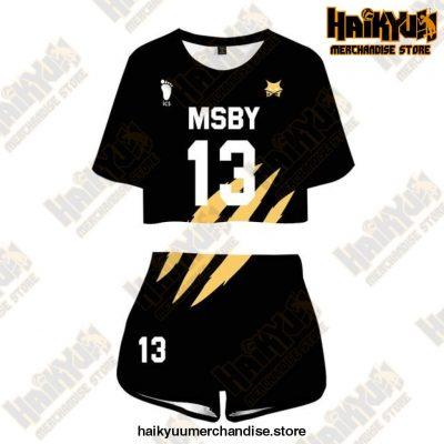 Msby Black Jackal Cosplay Sportswear Jerseys Uniform 13 / M