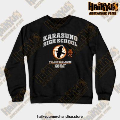 New 2021 Haikyuu Karasuno Sweatshirt Black / S