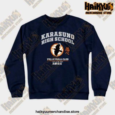New 2021 Haikyuu Karasuno Sweatshirt Navy Blue / S