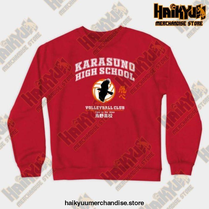 New 2021 Haikyuu Karasuno Sweatshirt Red / S