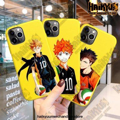 New Haikyuu Anime Yellow Phone Case
