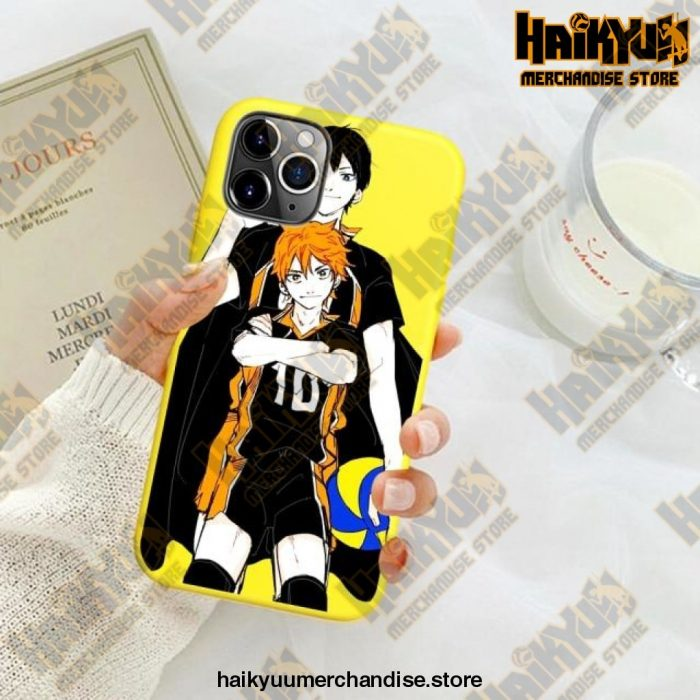 New Haikyuu Anime Yellow Phone Case For Iphone Se 2020 / Y6030E