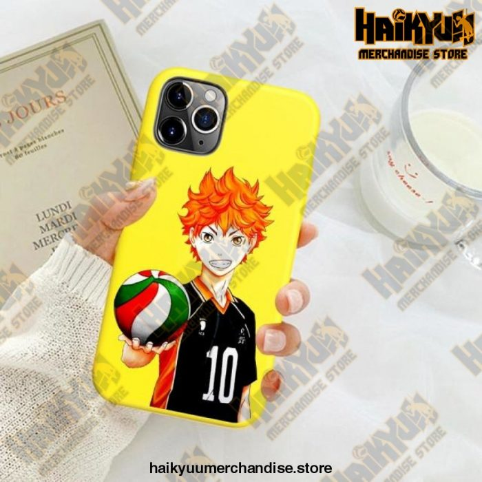 New Haikyuu Anime Yellow Phone Case For Iphone Se 2020 / Y6031E