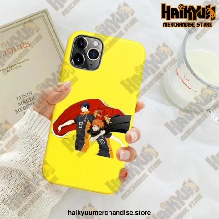 New Haikyuu Anime Yellow Phone Case For Iphone Se 2020 / Y6032E