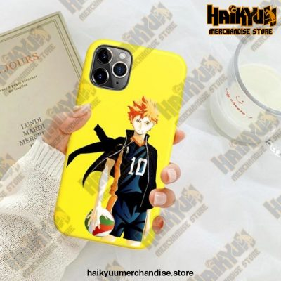 New Haikyuu Anime Yellow Phone Case For Iphone Se 2020 / Y6033E