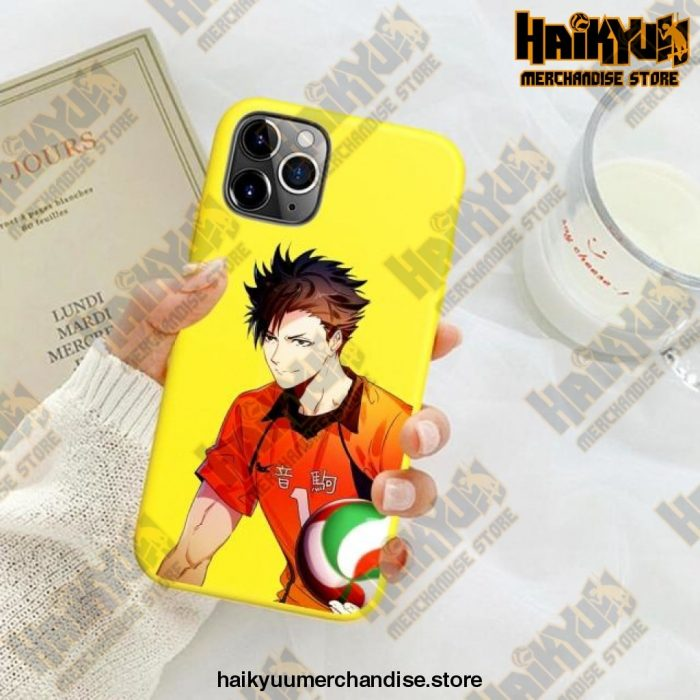 New Haikyuu Anime Yellow Phone Case For Iphone Se 2020 / Y6034E