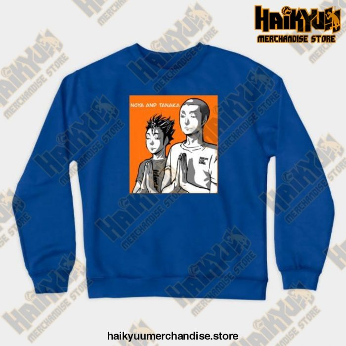 Noya Tanaka Prayer Crewneck Sweatshirt Blue / S