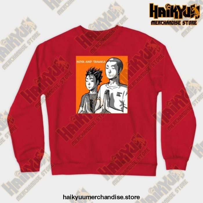 Noya Tanaka Prayer Crewneck Sweatshirt Red / S