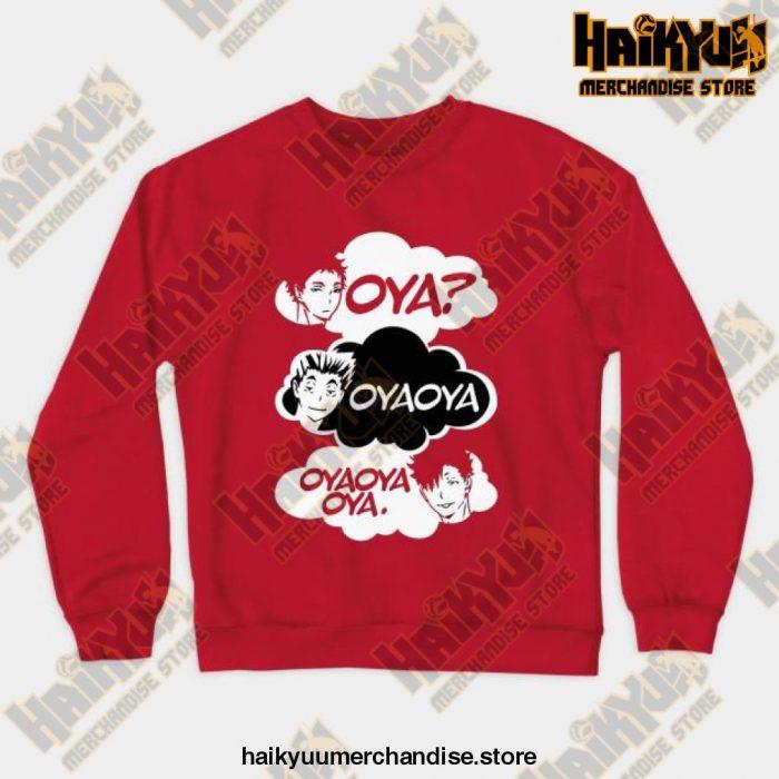 Oya Oya! Crewneck Sweatshirt Red / S