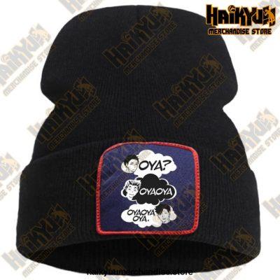 Oya Haikyuu Knitted Beanies Black / China One Size