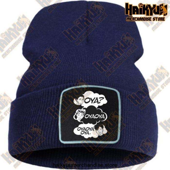 Oya Haikyuu Knitted Beanies Dark Blue / China One Size