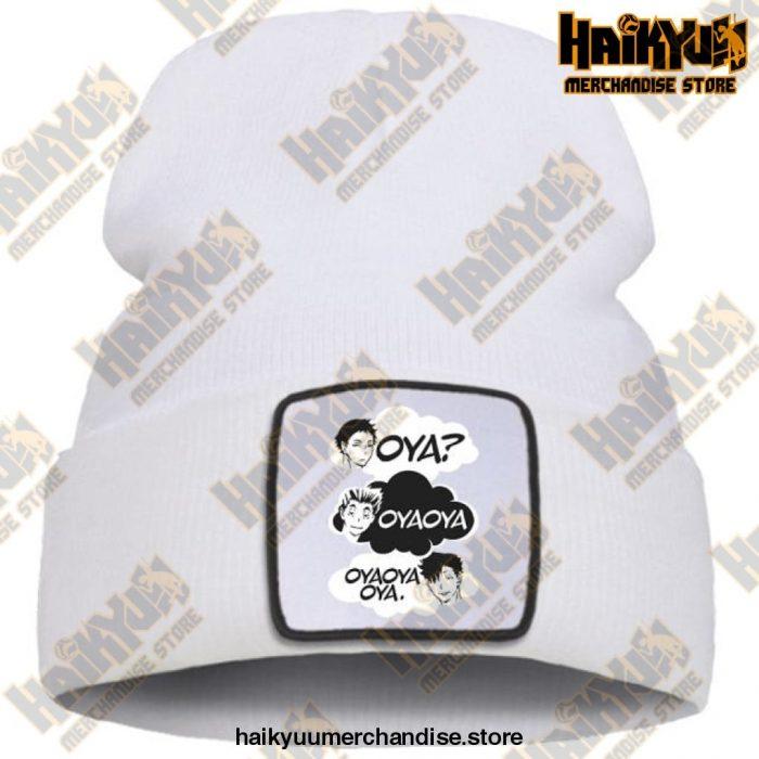 Oya Haikyuu Knitted Beanies White / China One Size