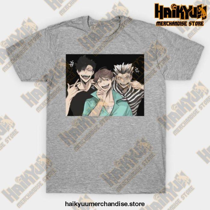 Selfie Haikyuu T-Shirt Gray / S