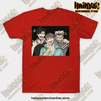 Selfie Haikyuu T-Shirt Red / S