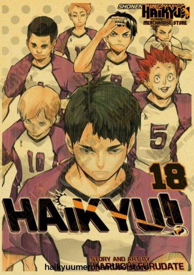 Vintage Anime Haikyuu!! 2021 Retro Poster 42X30 Cm / Q015 20