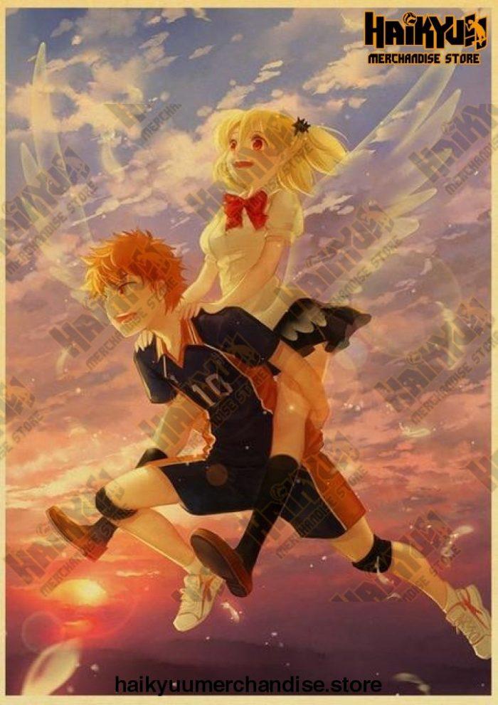 Vintage Japanese Anime Haikyuu!! Retro Poster Kraft Paper High Quality Home Room Art Print Wall