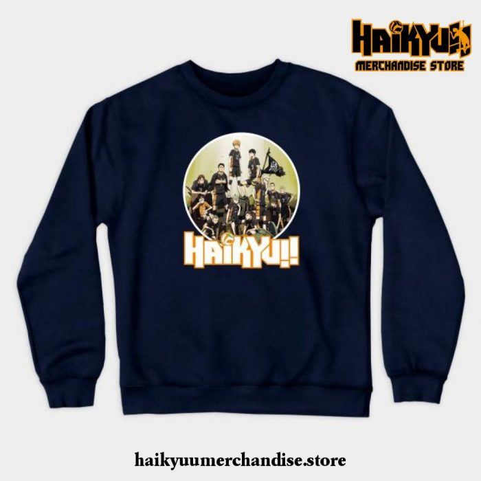Haikyuu Characters Crewneck Sweatshirt Black / S