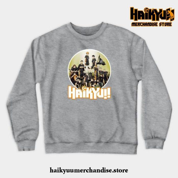 Haikyuu Characters Crewneck Sweatshirt Gray / S