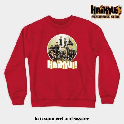 Haikyuu Characters Crewneck Sweatshirt Red / S