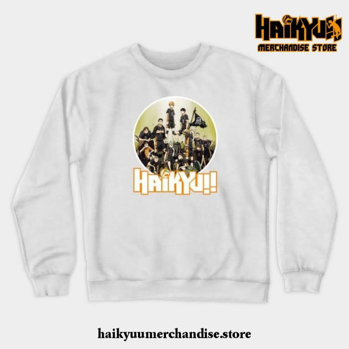 Haikyuu Characters Crewneck Sweatshirt White / S