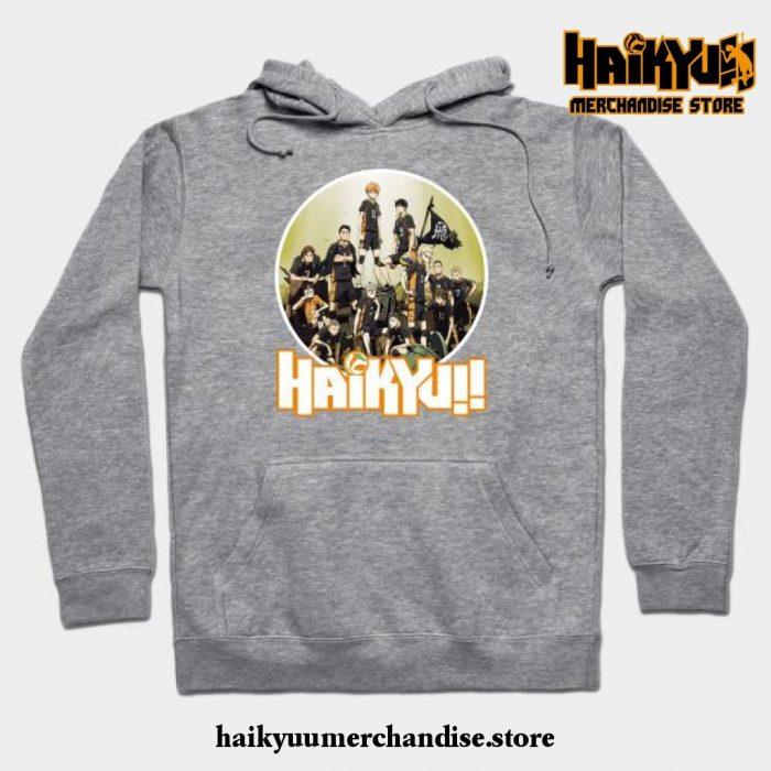 Haikyuu Characters Hoodie Gray / S
