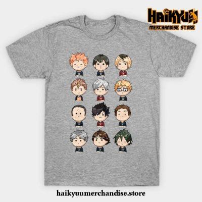 Haikyuu Chibi T-Shirt Gray / S
