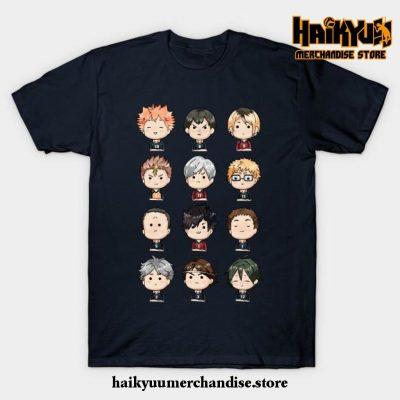 Haikyuu Chibi T-Shirt Navy Blue / S