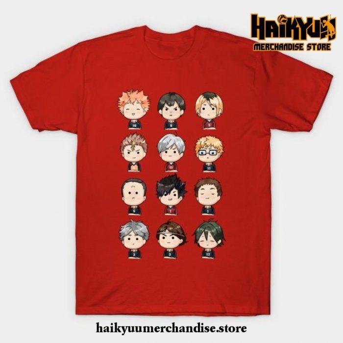 Haikyuu Chibi T-Shirt Red / S