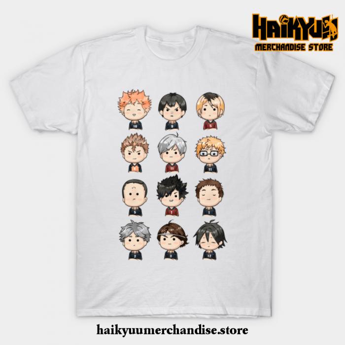 Haikyuu Chibi T-Shirt White / S