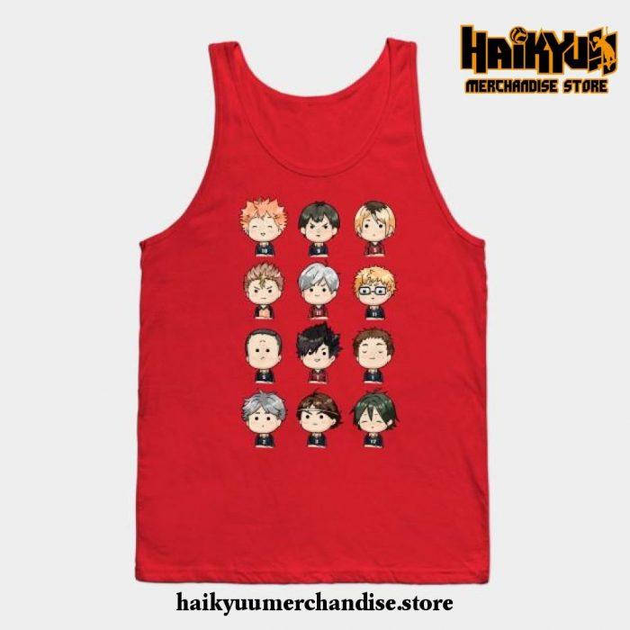 Haikyuu Chibi Tank Top Red / S