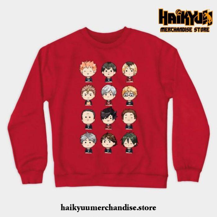 Haikyuu Crewneck Sweatshirt Red / S