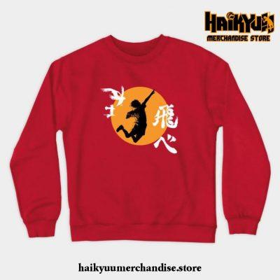 Haikyuu Karasuno - Hinata Smash Crewneck Sweatshirt Red / S