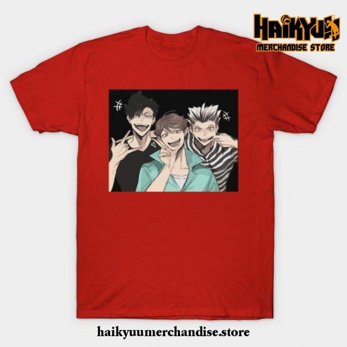 Haikyuu Selfie T-Shirt Red / S