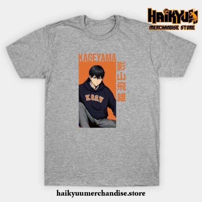 Kageyama Tobio - Haikyuu!! Anime T-Shirt Gray / S