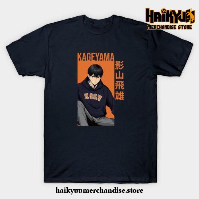 Kageyama Tobio - Haikyuu!! Anime T-Shirt Navy Blue / S
