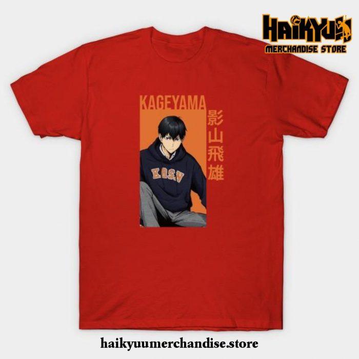 Kageyama Tobio - Haikyuu!! Anime T-Shirt Red / S