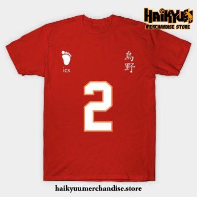 Karasuno High - Koshi Sugawara Jersey T-Shirt Red / S