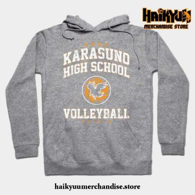 Karasuno High School Volleyball Hoodie Gray / S