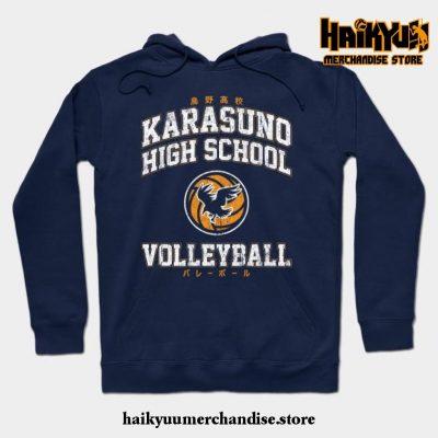 Karasuno High School Volleyball Hoodie Navy Blue / S