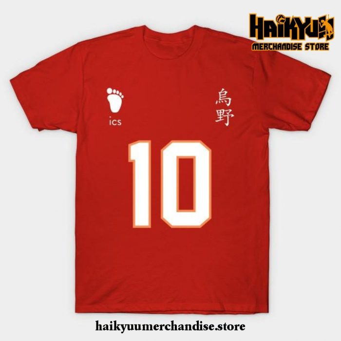 Karasuno High - Shoyo Hinata Jersey T-Shirt Red / S