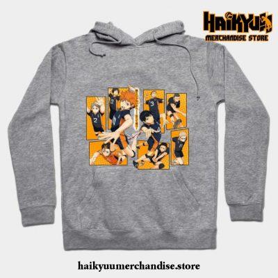 Karasuno Volleyball Hoodie Gray / S
