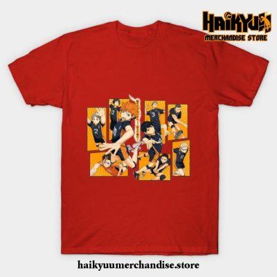 Karasuno Volleyball T-Shirt Red / S