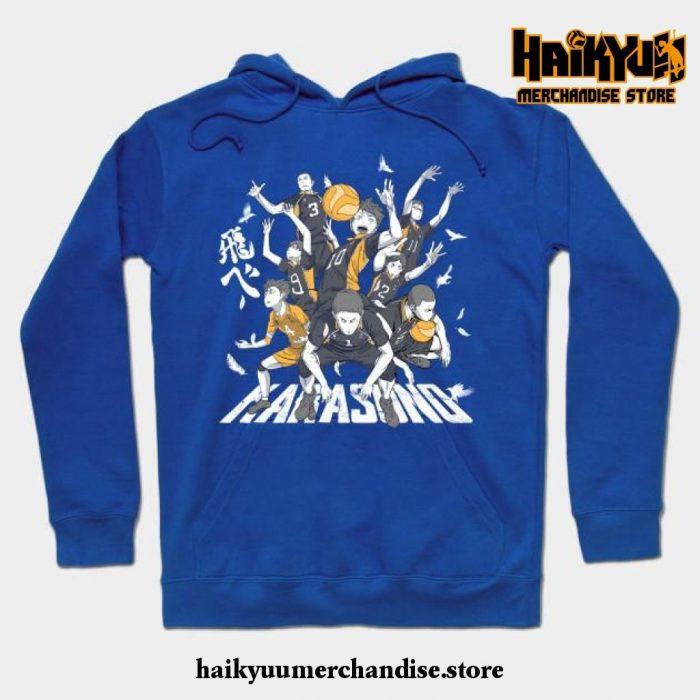 Lets Go Karasuno Hoodie Blue / S